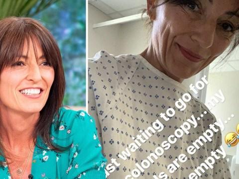 Davina McCall has 'empty bowels' as she documents colonoscopy on Instagram