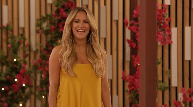Caroline Flack in the Love Island villa
