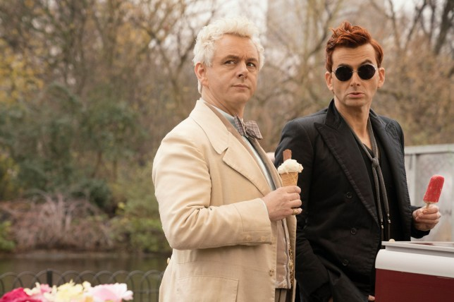 EMBARGOED TO 2300 WEDNESDAY FEBRUARY 13 Undated handout photo issued by Amazon Prime Video of Michael Sheen as the Angel (left) and David Tennant as the Demon in Good Omens, based on the book by Terry Pratchett & Neil Gaiman, which will premiere on Amazon Prime Video on May 31st. PRESS ASSOCIATION Photo. Issue date: Wednesday February 13, 2019. See PA story SHOWBIZ GoodOmens. Photo credit should read: Amazon Prime Video/PA Wire NOTE TO EDITORS: This handout photo may only be used in for editorial reporting purposes for the contemporaneous illustration of events, things or the people in the image or facts mentioned in the caption. Reuse of the picture may require further permission from the copyright holder.