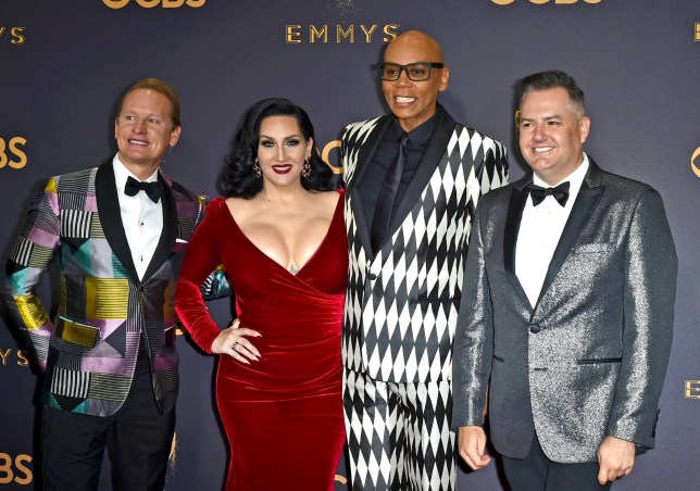 TV personalities Carson Kressley, Michelle Visage, RuPaul and Ross Mathews