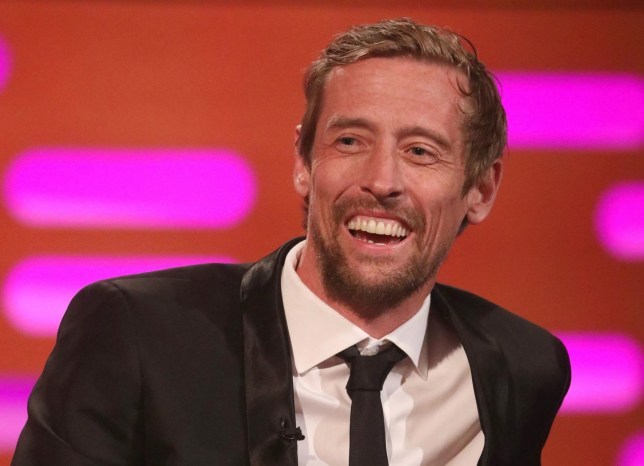 Peter Crouch during the filming for the Graham Norton Show at BBC Studioworks 6 Television Centre, Wood Lane, London, to be aired on BBC One on Friday evening. PRESS ASSOCIATION Photo. Picture date: Thursday May 16, 2019. Photo credit should read: PA Images on behalf of So TV