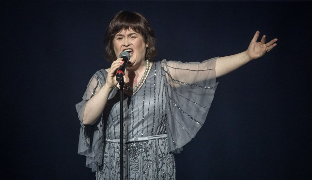 Mandatory Credit: Photo by Tom Dymonhttps://metro.co.uk/wp-admin/edit.php?s&post_status=publish&year=2019&monthnum=7&day=25d/REX/Shutterstock (9373834l) Susan Boyle at Britain's Got Talent - A Big Celebration in aid of Alder Hey Children's Hospital. Britain's Got Talent - A Big Celebration in aid of Alder Hey Children's Hospital, Liverpool, UK - 11 Feb 2018