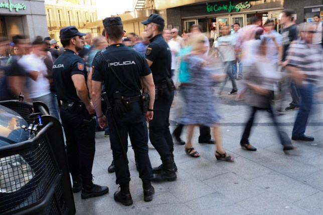 Four arrests ahead of Champions League final by 'heavy-handed