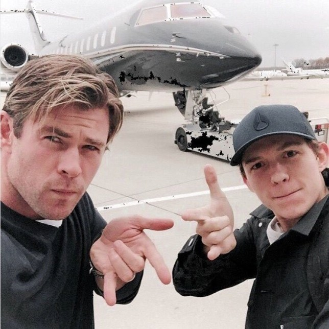 Chris Hemsworth called Tom Holland a 'big legend' for his 23rd birthday