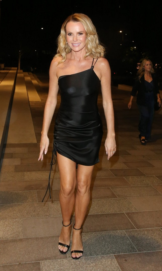 BGUK_1610318 - London, UNITED KINGDOM - Amanda Holden is seen here arriving at Soho House in White City, London for The Britains Got Talent Final After Party. Amanda looked stunning in a short LBD (Little Black Dress). Pictured: Amanda Holden BACKGRID UK 2 JUNE 2019 BYLINE MUST READ: CRYSTAL PIX / BACKGRID UK: +44 208 344 2007 / uksales@backgrid.com USA: +1 310 798 9111 / usasales@backgrid.com *UK Clients - Pictures Containing Children Please Pixelate Face Prior To Publication*