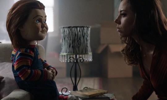 Mark Hamill and Aubrey Plaza in Child's Play (2019)