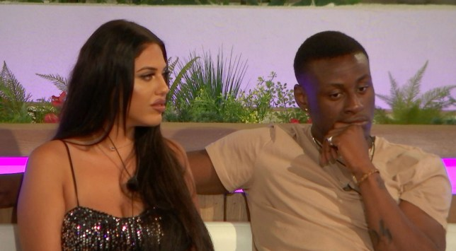 Editorial Use Only. No Merchandising. No Commercial Use. Mandatory Credit: Photo by ITV/REX (10281406d) Anna Vakili and Sherif Lanre 'Love Island' TV Show, Series 5, Episode 3, Majorca, Spain - 05 Jun 2019 The Islanders Feel the Heat as a Recoupling Looms The Two New Couples Go on a Double Date Amber Sees an Opportunity and Joe Reflects on His Newly Single Status Tommy Keeps His Options Open with Amber Lucie Feels Torn Between Tommy and Joe