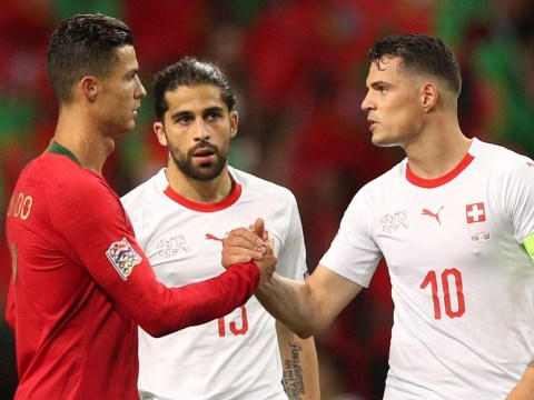 Granit Xhaka says there's 'not much you can do' about Cristiano Ronaldo after gifting him his hat-trick goal
