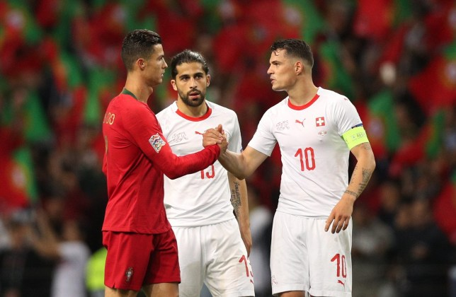 Cristiano Ronaldo capitalised on Granit Xhaka's mistake to complete his hat-trick for Portugal