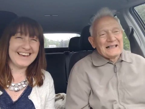 Please watch this elderly man with dementia singing his heart out in the car