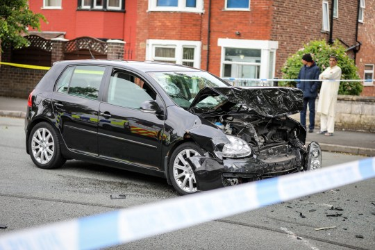 Man dies and boy fighting for life after horror crash in Crumpsall