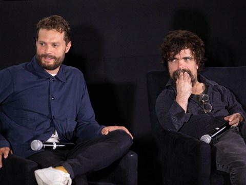 Peter Dinklage hangs out with co-star Jamie Dornan as he moves on from Game Of Thrones' Tyrion