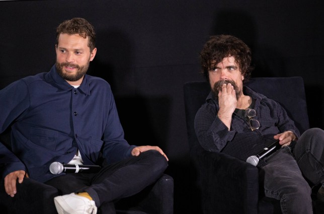 Peter Dinklage and Jamie Dornan at a screening of My Dinner With Herve in New York
