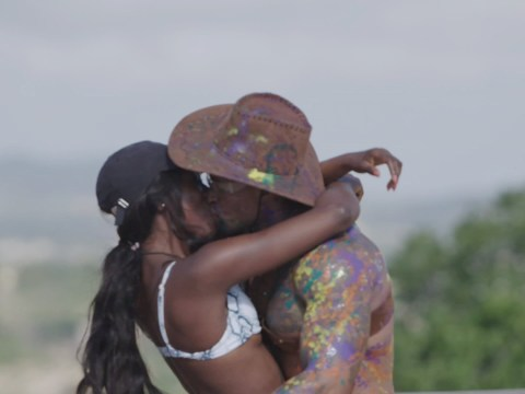 Love Island's Yewande Biala shares a snog Michael Griffiths during raunchy cowboy game