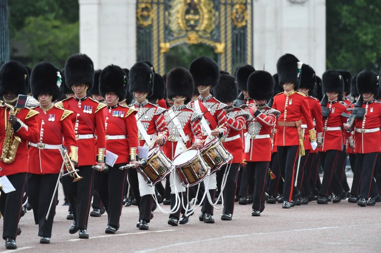 BGUK_1617782 - London, UNITED KINGDOM - Arrivals for the Trooping The Colour for the Queen's official birthday parade. The Queen's Colour of First Battalion Grenadier Guards is trooped in the presence of The Queen to mark her official birthday Pictured: Horse Guard BACKGRID UK 8 JUNE 2019 BYLINE MUST READ: ZED JAMESON / BACKGRID UK: +44 208 344 2007 / uksales@backgrid.com USA: +1 310 798 9111 / usasales@backgrid.com *UK Clients - Pictures Containing Children Please Pixelate Face Prior To Publication*