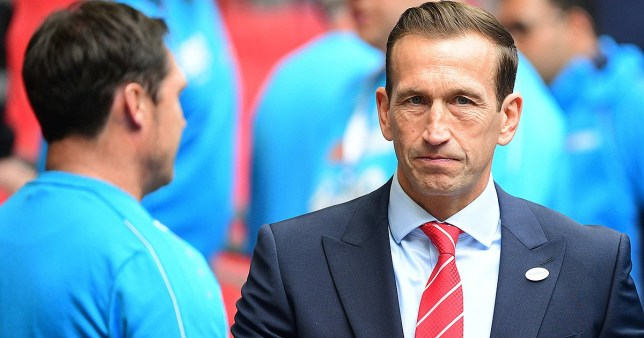 Leyton Orient coach Justin Edinburgh during the FA Trophy Final match between Leyton Orient and AFC Fylde at Wembley Stadium on May 19, 2019 in London, England. (Photo by Dave Winter/Icon Sport via Getty Images)