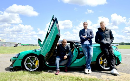 Top Gear hosts Chris Harris, Paddy McGuinnes and Freddie Flintoff