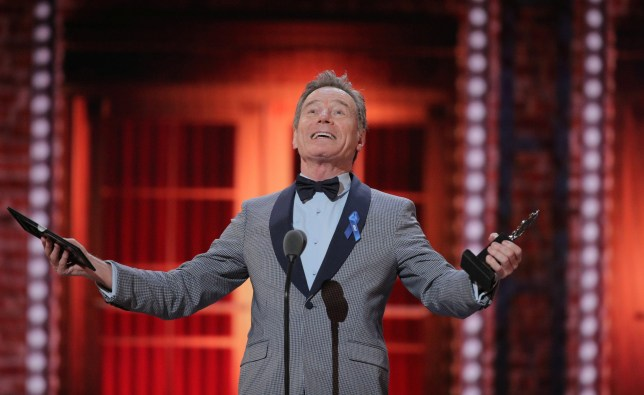 Bryan Cranston wins a Tony Award for his performance in Network