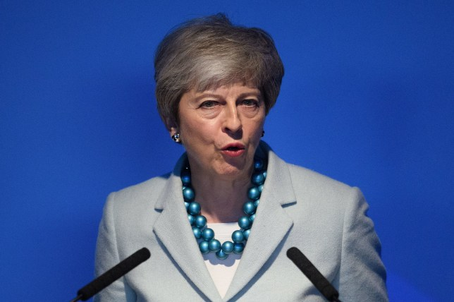 Prime Minister Theresa May making a speech at Queen Elizabeth Olympic Park, east London, to mark the launch of London Tech Week. PRESS ASSOCIATION Photo. Picture date: Monday June 10, 2019. See PA story TECHNOLOGY London. Photo credit should read: Leon Neal/PA Wire