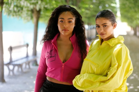 PARIS, FRANCE - JUNE 21: Jordyn Woods and Kylie Jenner attend the Louis Vuitton Menswear Spring/Summer 2019 show as part of Paris Fashion Week on June 21, 2018 in Paris, France. (Photo by Chesnot/WireImage)
