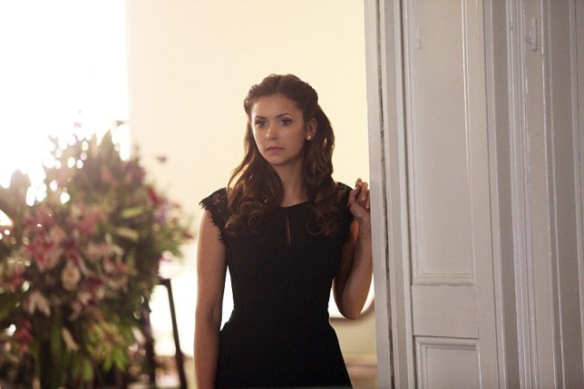 "The Vampire Diaries -- ""Let Her Go"" -- Image Number: VD615b_0064.jpg -- Pictured: Nina Dobrev as Elena -- Photo: Annette Brown/The CW -- ???? 2015 The CW Network, LLC. All rights reserved."