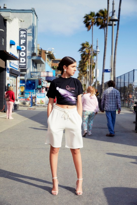 ***EMBARGOED UNTIL 11.59pm GMT, June 11, 2019*** Rina Lipa wows in a Venice Beach photoshoot for Nasty Gal to show of her new summer collection with online clothing retailer. The 18-year-old aspiring actress and model, and the sister of Grammy winning singer Dua Lipa, looks the part in a series of looks including torn denims and exposed bras set against the backdrop of the iconic beachside landmark. The 2019 summer collection is inspired by Rina s laid-back style and includes androgynous oversized clothing, along with casual biker shorts, T-shirts, mesh crop tops and embroidered floral minidresses. Speaking of the collaboration, Rina said: I loved working with Nasty Gal and the incredible dream team that helped this all come together. Exploring Venice Beach and LA with them for my first time there was surreal. The Rina Lipa collection launches online on June 12, 2019. ***EMBARGOED UNTIL 11.59pm GMT, June 11, 2019***. 11 Jun 2019 Pictured: Rina Lipa models her summer capsule collection for Nasty Gal, which is released on June 12, 2019. ***EMBARGOED UNTIL 11.59pm GMT, June 11, 2019***. Photo credit: Nasty Gal/ MEGA TheMegaAgency.com +1 888 505 6342