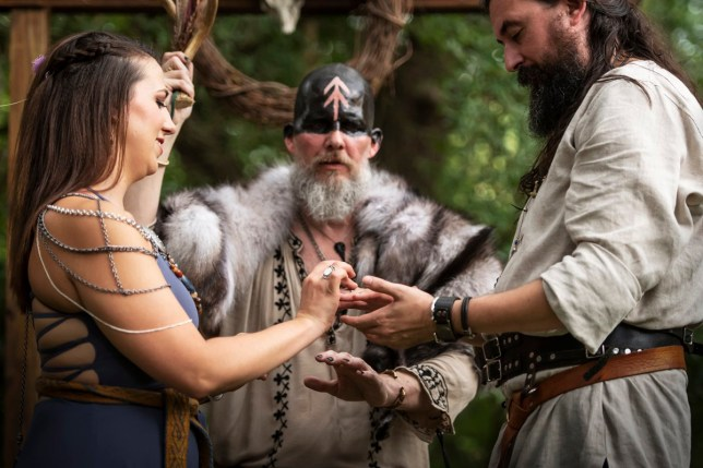 This couple had a traditional viking wedding complete with blood