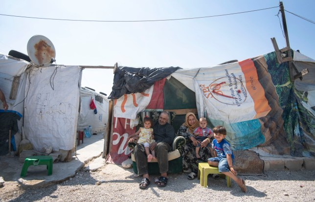 Refugees displaced to Lebanon by the Syrian conflict at an informal tented settlement, which the Countess of Wessex saw in the Bekaa Valley, Lebanon, during the first official Royal visit to the country. PRESS ASSOCIATION Photo. Picture date: Wednesday June 12, 2019. The Countess of Wessex announced her commitment to supporting the UK???s efforts in the Women, Peace and Security agenda (WPS), and the Preventing Sexual Violence in Conflict Initiative (PSVI) earlier this year. See PA story ROYAL Lebanon . Photo credit should read: Victoria Jones/PA Wire