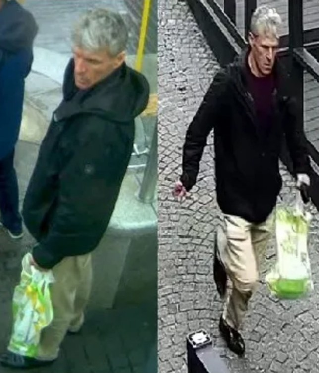 Undated handout comp of CCTV grabs issued by Merseyside Police of a man they wish to speak to over a screwdriver stabbing on a bus. PRESS ASSOCIATION Photo. Issue date: Wednesday June 12, 2019. The male victim sustained puncture wounds to his back, He is recovering in hospital in a stable condition following the incident at the city centre's Queen Square bus station at about 11.10am on Tuesday. See PA story POLICE Bus. Photo credit should read: Merseyside Police/PA Wire NOTE TO EDITORS: This handout photo may only be used in for editorial reporting purposes for the contemporaneous illustration of events, things or the people in the image or facts mentioned in the caption. Reuse of the picture may require further permission from the copyright holder.