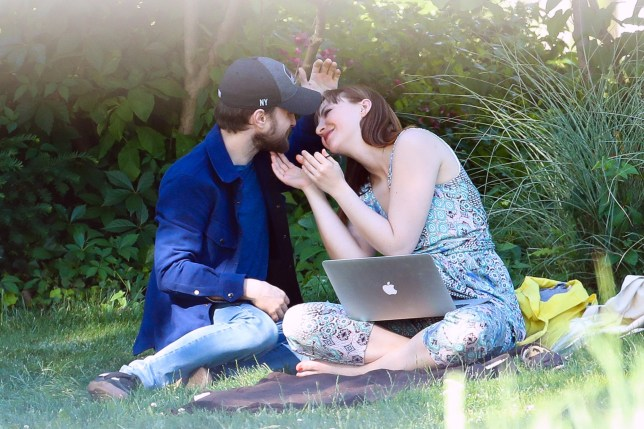 Daniel Radcliffe and girlfriend Erin Darke were spotted kissing after relaxing by the Hudson River Park in New York