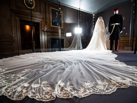 Meghan Markle's wedding dress goes on display to the public from today