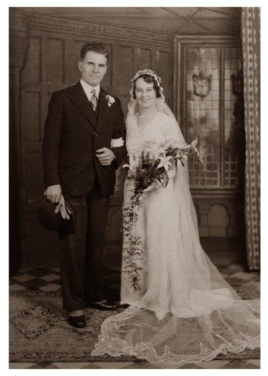 FILE PICTURE - Wedding Day taken 1933 Leonard Roderick Jones and Grace Jones. See SWNS story SWMDgrace. Grace Jones, known to her friends as Amazing Grace, died peacefully in her sleep at her home in Pegasus Court, Broadway, on Friday, June 7, her family have announced. Mrs Jones, who was born on September 16, 1906, lived to see five monarchs and 21 prime ministers, surviving two world wars. Mrs Jones took the title of the oldest UK person last summer after the previous oldest person, Olive Boar's death.