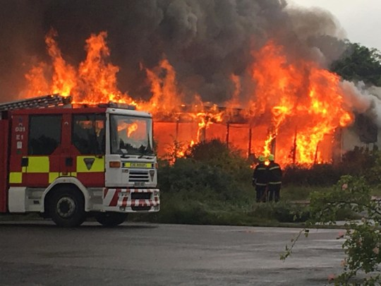 Firefighters are currently at the scene of a huge blaze at a hotel in Teesside this evening [June 13]. At least three fire engines and an ambulance were scrambled to Marton Hotel and Country Club in Marton-in-Cleveland, on the outskirts of Middlesbrough. Caption: Fire crews tackle a blaze at Marton Hotel and Country Club in Marton-in-Cleveland, North Yorkshire, on June 13, 2019