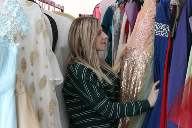 Ally Elouise (corr) lends prom dresses to girls who would otherwise struggle to afford them Credit: Daily Post Wales