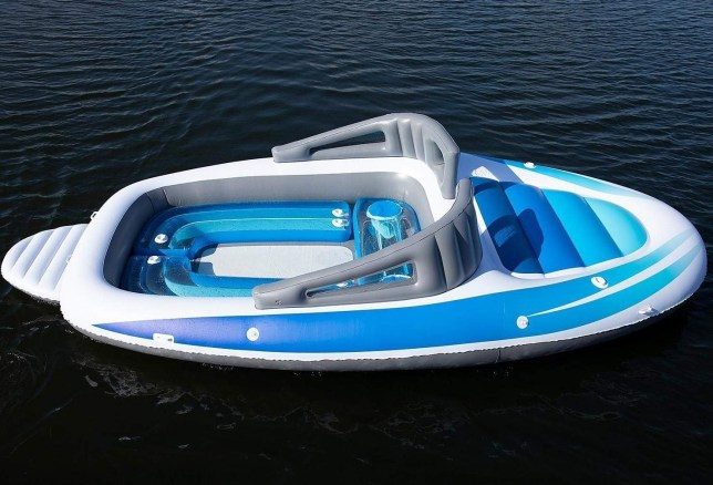 Amazon is selling a large inflatable speedboat