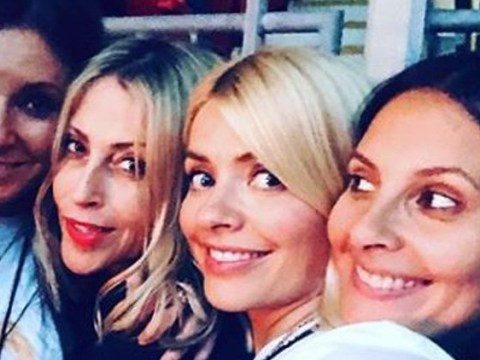 Holly Willoughby spices up her life on boozy girl's night to support Emma Bunton at Spice Girls show