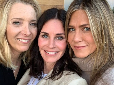 Courteney Cox reunites with Friends Jennifer Aniston and Lisa Kudrow for 55th birthday