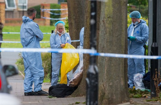 """Detectives investigating the murder of a man in Tower Hamlets on Saturday, 15 June have named the victim. He is 34-year-old Gleb Stanislavovitch Zhebrovsky, also known as Gleb Stalnoy. He is from Poplar but is originally from Russia. His next of kin have been informed. A post-mortem examination is due to take place today, Tuesday, 18 June. Detectives from the Met?s Homicide and Major Crime Command continue to investigate the murder. Two men, aged 28 and 33, were arrested on suspicion of murder over the weekend and remain in police custody. Police were called by London Ambulance Service [LAS] at 1358hrs on Saturday, 15 June, to reports of an injured man at Alton Street."" Pictured: The scene in Lansbury Area park, Poplar, East London. Jamie Lorriman mail@jamielorriman.co.uk www.jamielorriman.co.uk 07718 900288"
