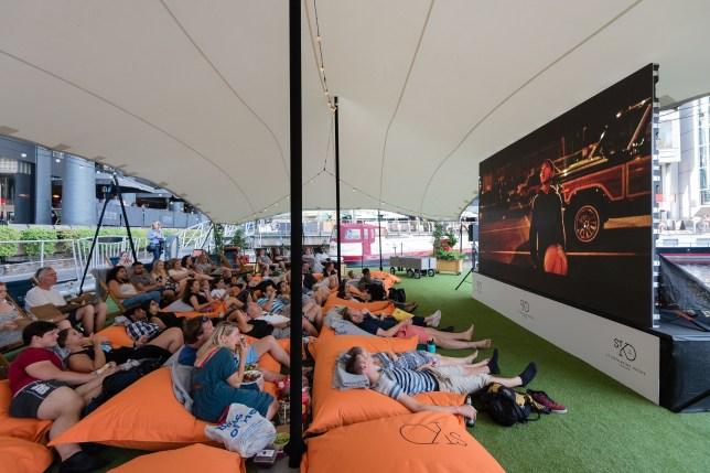Cinema-goers at last year's floating film festival