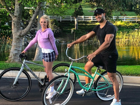 Britney Spears and boyfriend Sam Asghari get flirty on Instagram after romantic bike ride