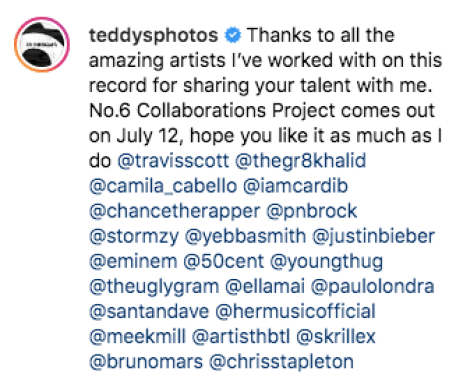 Ed Sheeran worked with Eminem, Cardi B and Camila Cabello on