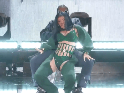 Cardi B gives husband Offset a full-on lapdance on stage at BET Awards and it's NSFW