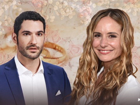 Tom Ellis joined by Lucifer co-stars as he marries Meaghan Oppenheimer in lavish ceremony
