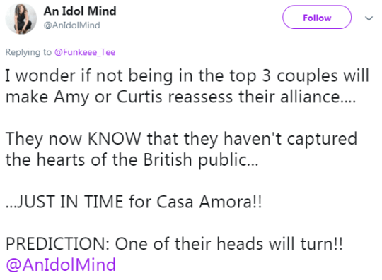 Twitter users react to latest Love Island with Amy Hart and Curtis Pritchard