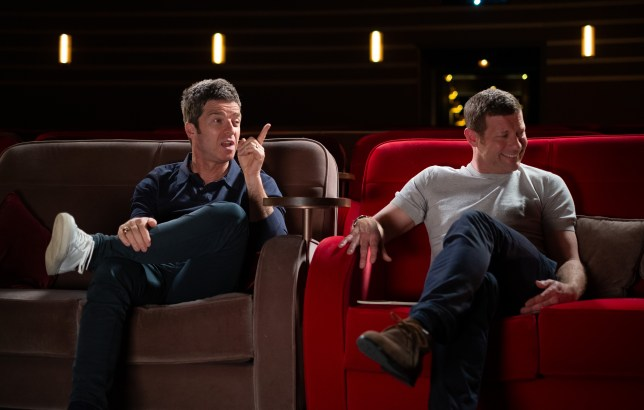 Dermot O'Leary and Noel Gallagher