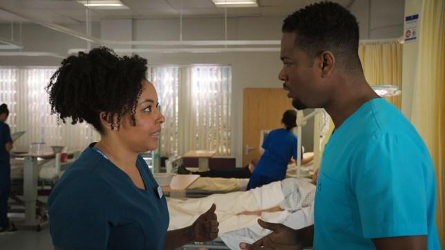 Donna and Zav struggle in Holby City