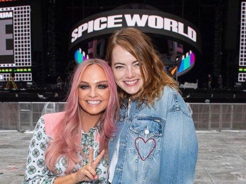 Emma Stone actually slipped on the floor at home, didn't 'break shoulder' at Spice Girls gig