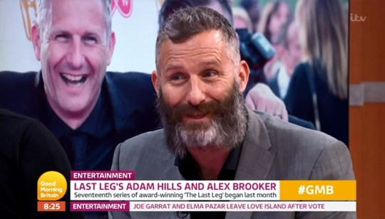 Piers Morgan and Adam Hills clash on Good Morning Britain