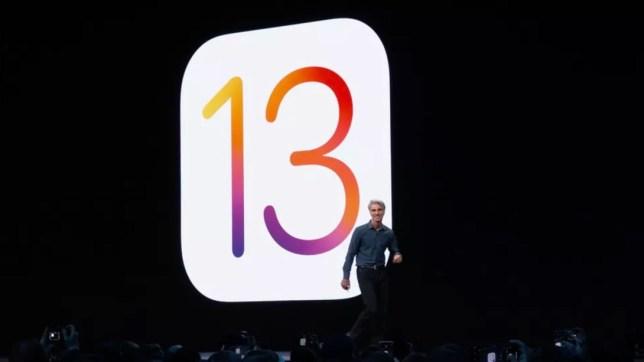 Craig Federighi unveils iOS 13 at the WWDC event in San Jose (Apple)