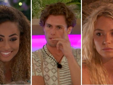 Love Island's Amber Gill tries to crack on with Joe Garrett in front of Lucie Donlan